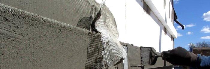 Правильное оштукатуривание фасада здания 1